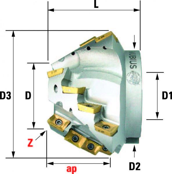 Technische Vorderansicht: Fasenfräser mit AP..1003.. (FF-200-10)